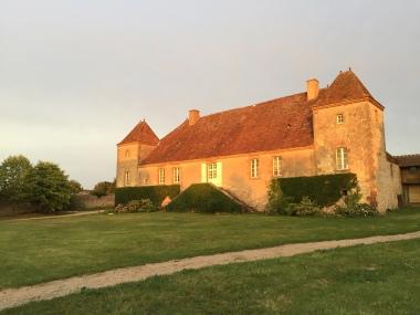 Vue de l'arrière du Château depuis la salle de réception